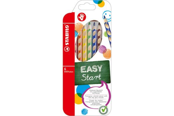 STABILO Farbstifte EASYcolors 332 6 6 Farben R