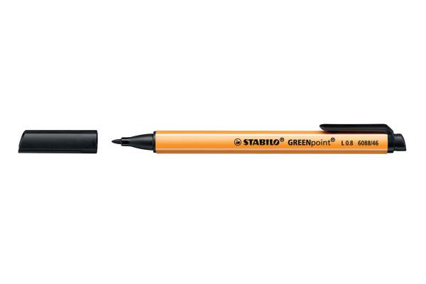 STABILO Faserschreiber GREENpoint 0,8mm 6088 46 schwarz