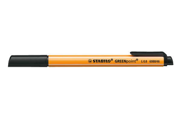 STABILO Faserschr. GREENpoint 0,8mm 6088/46 schwarz