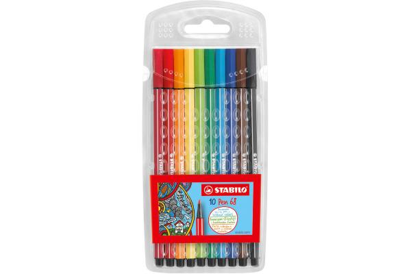 STABILO Fasermaler Pen 68 1mm 68/10 10 Farben ass.
