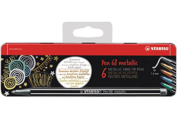 STABILO Fasermaler Pen 68 6806/8-31 metallic ass. 6...