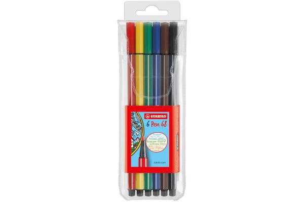 STABILO Fasermaler Pen 68 1mm 6806 PL 6 Farben
