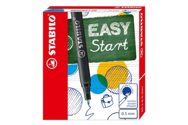 STABILO Tintenpatronen Easy 0,5 mm 6890 041- blau 20 Stück