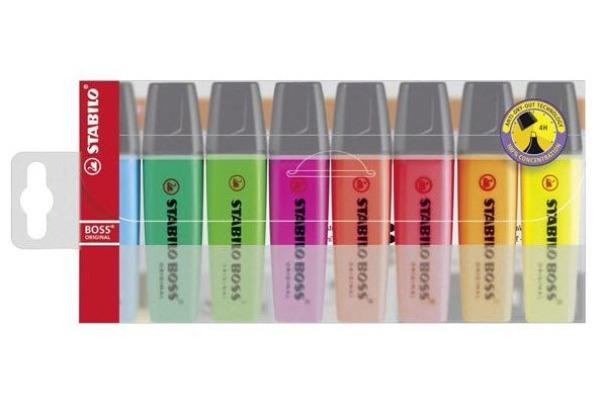STABILO Boss Leuchtmarker Original 70 8 8 Farben assortiert