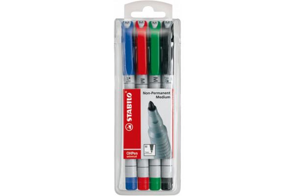 STABILO OHP Pen non-perm. M 853/4 4er Etui