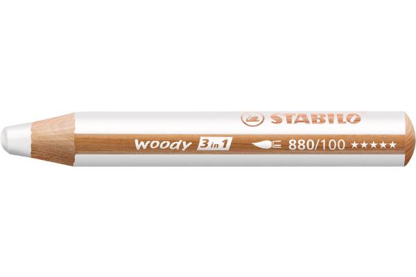 STABILO Farbstifte Woody 3 in 1 880/100 weiss