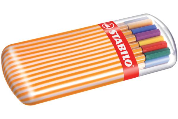STABILO Faserschreiber Point 88 8820-02 20 Farben