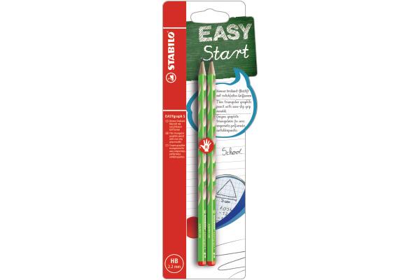 HB STABILO Schreiblernbleistift EASYgraph grün Härtegrad