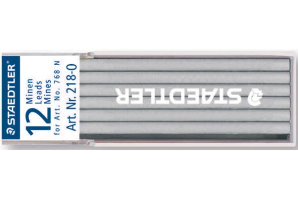 STAEDTLER Minen Lumocolor non-permit 768N 218-0 weiss 12 Stück