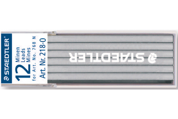 STAEDTLER Minen Lumocolor non-perm. 768N 218-0 weiss 12 Stück