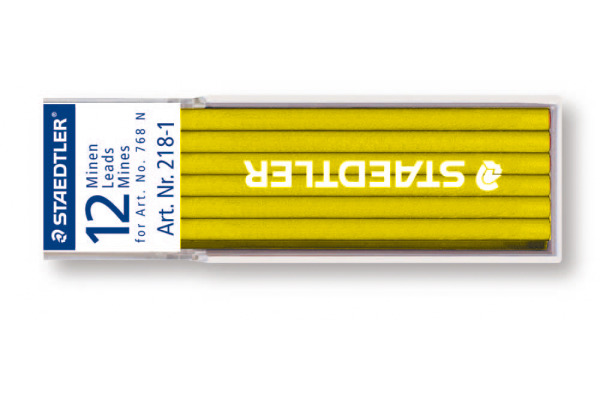 STAEDTLER Minen Lumocolor non-perm. 768N 218-1 gelb 12 Stück