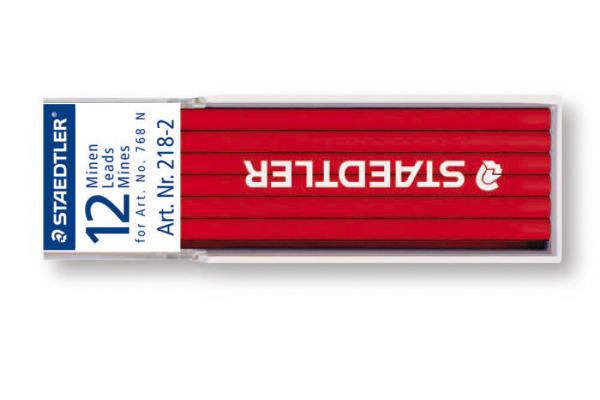STAEDTLER Minen Lumocolor non-perm. 768N 218-2 rot 12 Stück