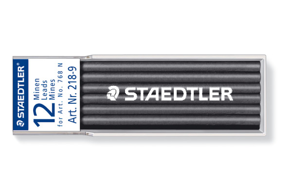 STAEDTLER Minen Lumocolor non-perm. 768N 218-9 schwarz 12 Stück