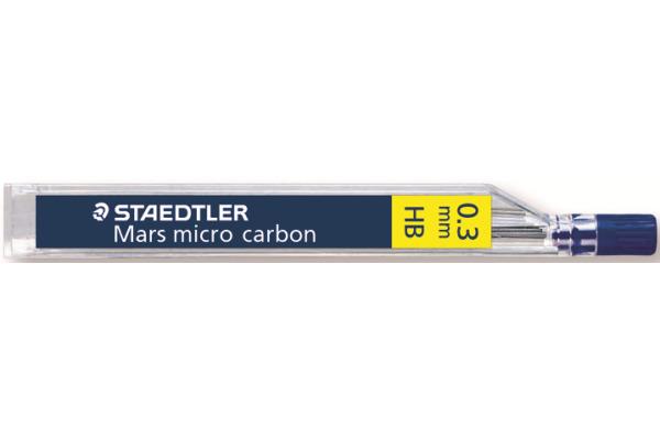 STAEDTLER Feinmine MARS MICRO HB 0,3mm 250 03-HB tiefschwarz 12 Stück