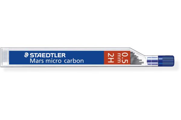 STAEDTLER Feinmine MARS MICRO 2H 0,5mm 250 05-2H tiefschwarz 12 Stück