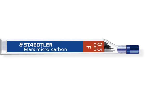 STAEDTLER Feinmine MARS MICRO F 0,5mm 250 05-F tiefschwarz 12 Stück