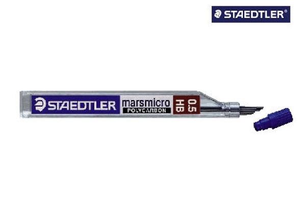 STAEDTLER Feinmine MARS MICRO H 0,5mm 250 05-H tiefschwarz 12 Stück