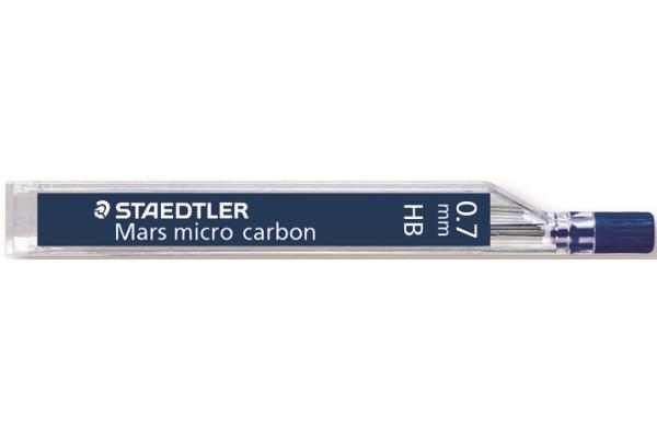 STAEDTLER Feinmine MARS MICRO HB 0,7mm 250 07-HB tiefschwarz 12 Stück
