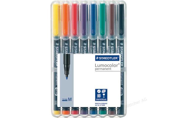 STAEDTLER Lumocolor permanent M 317 WP8 8 Farben assortiert
