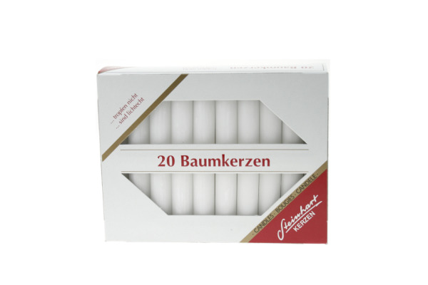 STEINHART Baumkerzen 100x13mm 02333-01 weiss 20 Stück