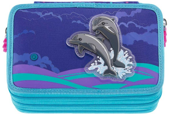 STEPBYST. XXL-Etui Flash 139199 Happy Dolphins, 3 Fächer