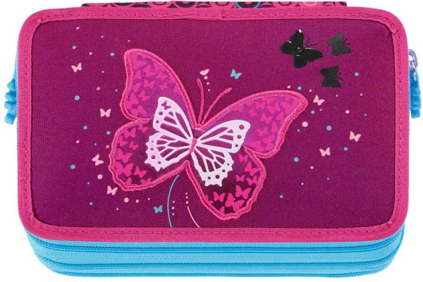 STEPBYST. XXL-Etui Flash 139200 Shiny Butterfly, 3 Fächer