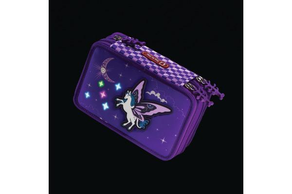 STEPBYST. XXL-Etui Flash 139201 Pegasus Purple, 3 Fächer