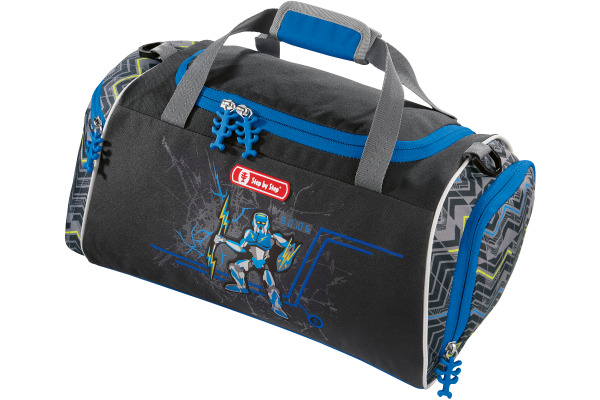 STEPBYST. Sporttasche Strongly Robot 139244 blau,grau,schwarz