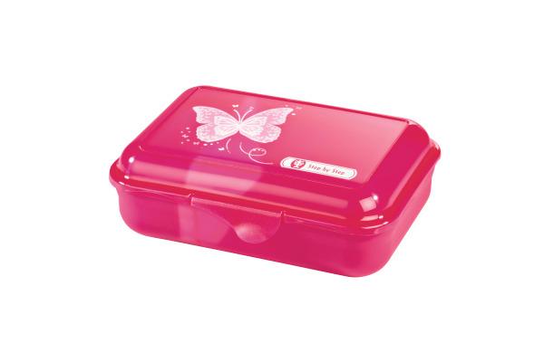 STEPBYST. Lunch Box 139284 Shiny Butterfly, pink
