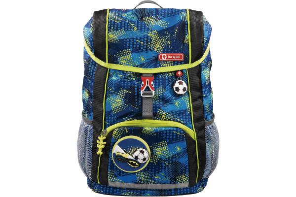 STEPBYSTaschen KID Rucksack-Set Soccer Team 183700 blau grün schwarz 3-teilig