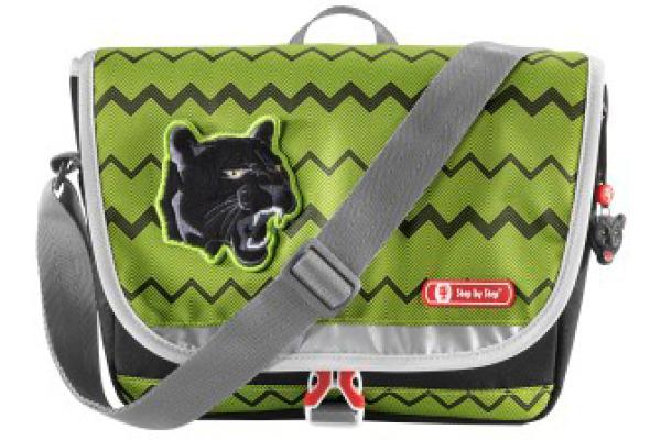 STEPBYSTaschen Kindergarten-Tasche Wild Cat 183734 grün schwarz 2-teilig
