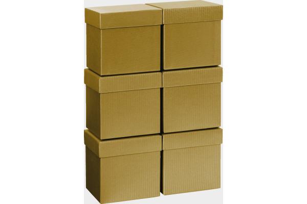 STEWO Geschenkbox 13.5x13.5x12.5cm 255178209 gold One Colour