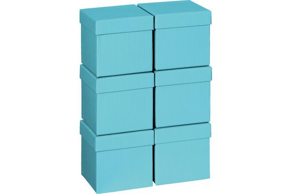 STEWO Geschenkbox 13.5x13.5x12.5cm 255178349 hellblau One Colour