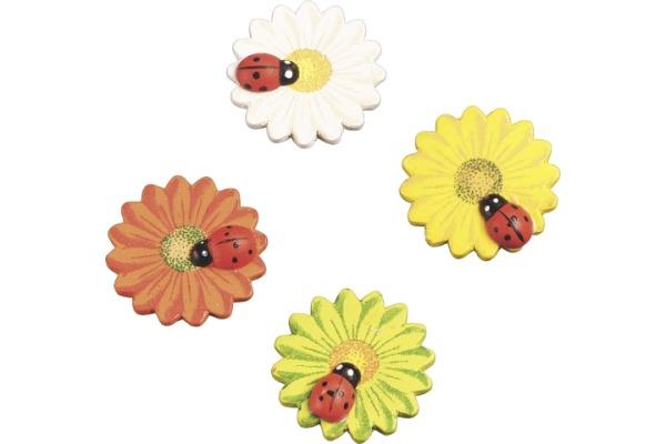 STEWO Blume m.Marienkäfer 3cm 8002452 8 Stück