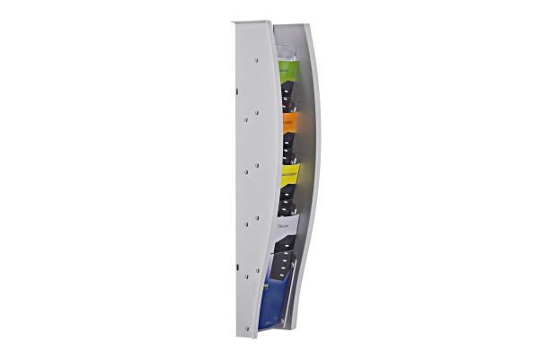 STYRO Wandprospekhalter 1/3 A4 128-360.0 grau 5 Fächer