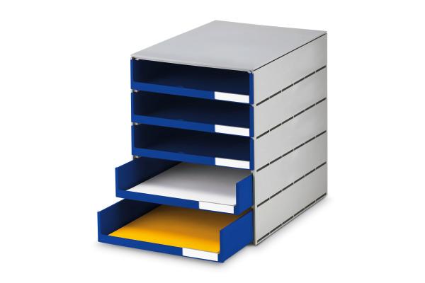 STYRO Schubladenbox grau 16-800138 5 Fächer