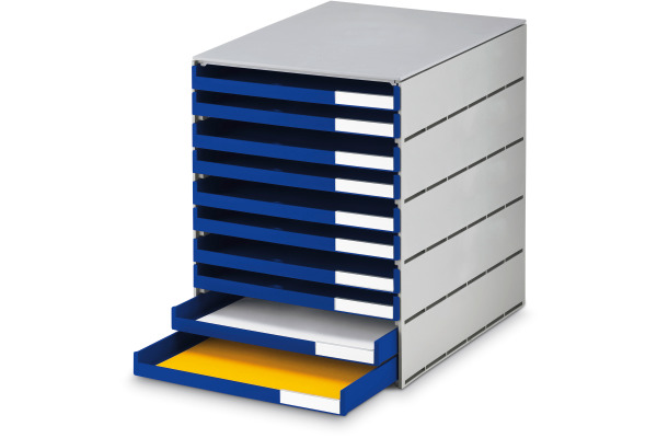 STYRO Schubladenbox grau 16-800238 10 Fächer