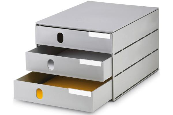 STYRO Schubladenbox grau 16-805085 3 Fächer