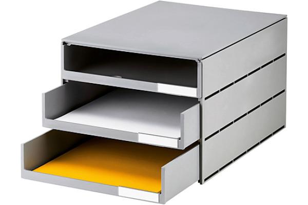 STYRO Schubladenbox grau 16-805185 3 Fächer