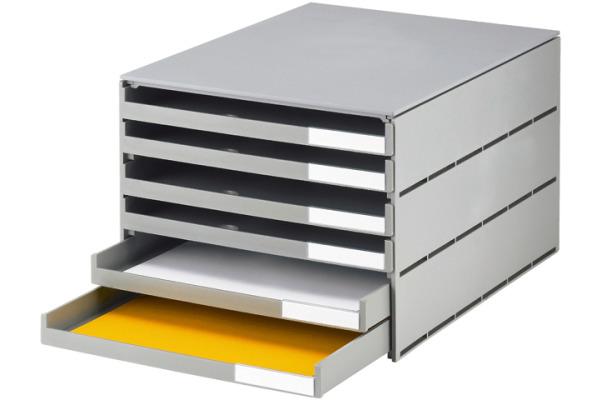 STYRO Schubladenbox grau 16-805285 6 Fächer