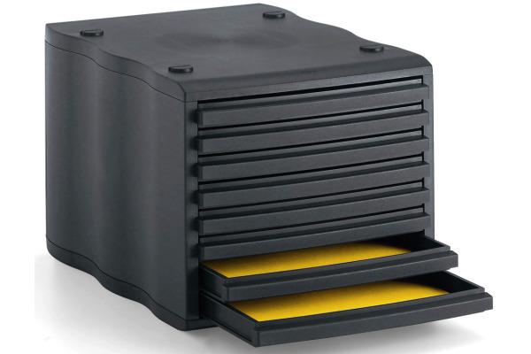 STYRO Schubladenbox schwarz 248855099 8 Fächer