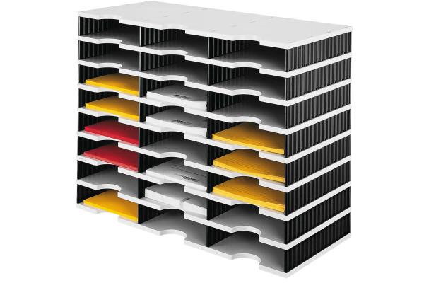 STYRO Schubladenbox Trio grau/schw. 268-03081 24 Fächer