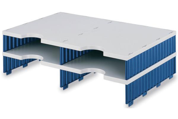 STYRO Schubladenbox Duo grau/blau 268-12021 4 Fächer