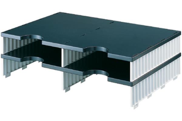 STYRO Schubladenbox Duo schwarz/grau 268-12021 4 Fächer