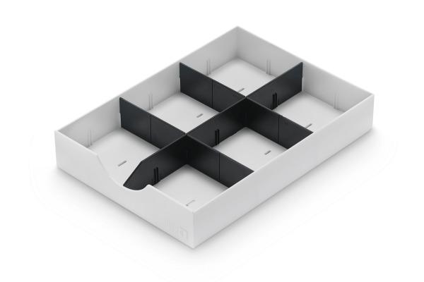 STYRO styrodoc System-Schublade 268-405.5 weiss 1 längs 2 quer