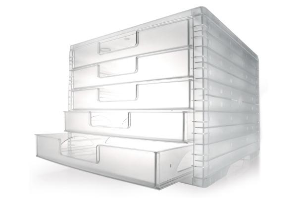 STYRO Light-Box transparent A4 275-8419.222 Schubladenbox...