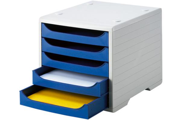 STYRO Schubladenbox grau 275-8427.382 5 Fächer...