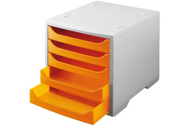 STYRO Schubladenbox grau 275-8427.482 5 Fächer...