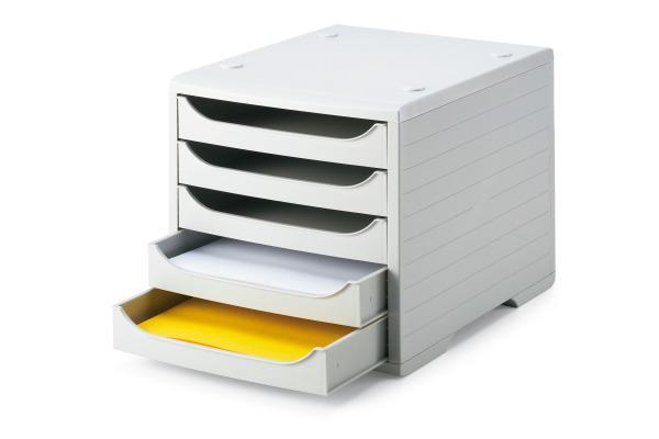STYRO Schubladenbox grau 275-8427. 5 Fächer grau