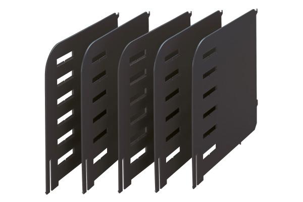 STYRO Trennwände Styrorac schwarz 280-3015. 5 Stück